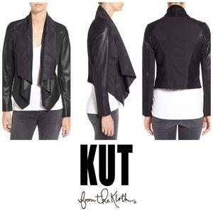 KUT from the Kloth Ana Drape Jacket in Gray
